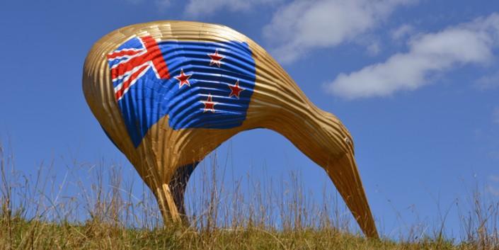 Kiwiana statue in Otorohanga NZ